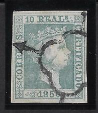 Spain Mi.5 (Ed.5) 10R Green Used With Cert. Comex