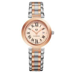 Alexander Swiss Made Stainless Ladies Quartz Sapphire Crystal Diamond Dial Watch
