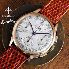 1945 BREITLING Swiss Ref. 787 'Premier' 18k RG Chronograph Watch Venus Cal. 152