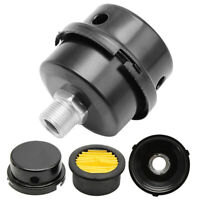 16mm Thread Air Compressor Intake Filter Noise Muffler Silencer Black 20mm Tool