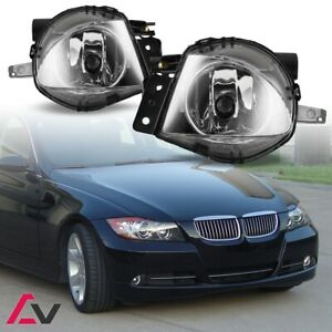 06-08 For BMW E90 Clear Lens Pair Bumper Fog Light Lamp OE Replacement DOT Bulb