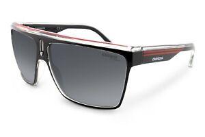 Carrera 22 Unisex Black & Red Sunglasses Sports Designer UV Protection Retro