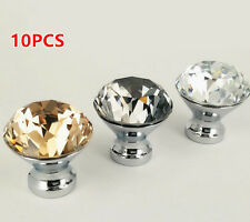 10pcs Fashion Crystal Smooth Ball Glass Pull Handle Cabinet Drawer Door Knob