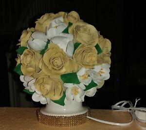 "Handmade bedside lamp ""Rose/Magnolia """