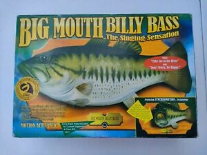 New Vintage Big Mouth Billy Bass Motion Activated Singing Fish W/ Box Gemmy