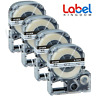 4PK Compatible with EPSON LC-4WBTN9 ST12KW Label Tape Black on Clear 12mm LW400.