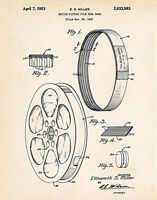 1953 Old Film Reels Movie Room Themed Decor Ideas Patent Art Print Director Gift