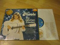 LP Nicole Ein bißchen Frieden Vinyl 625200 TELDEC oder 29 370 4