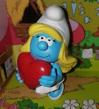 I Puffi - Smurf - Puffetta che Tiene il Cuore  Schtroumpfette Statua Plastoy