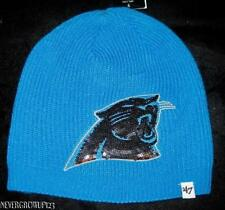 WOMENS~LADIES CAROLINA PANTHERS BLUE KNIT BEANIE~HAT~STOCKING CAP~47 BRAND fa2edb96b