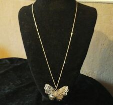 Silver Toned Butterfly Necklace