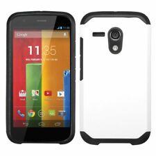 For Motorola Moto G 1st Gen Astronoot Hybrid Slim Hard Soft Case Cover White