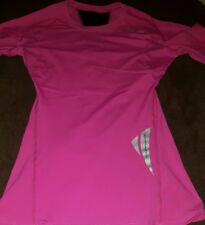 SUGOI WOMENS YOUTH GIRLS COMPRESSION SHIRT PINK ATHLETIC BASE LAYER