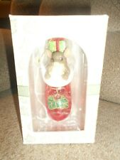 Charming Tails-Christmas Stocking Surprise-Ct Glass Ornament-Original Box-Nice!