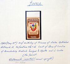 TUVALU 1982 - 21st Birthday 45c Inverted/WMK Marginal Error Variety U/M NC1350
