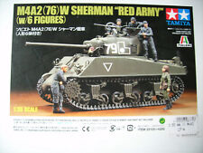 """Tamiya 300025105 M4A2(76) Sherman """"Red Army"""" with 6 Figures - 1:35"""