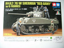 """TAMIYA 300025105 m4a2 (76) Sherman """"Red Army"""" with 6 figures - 1:35"""