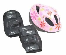 Sport Direct™ Mountain Bicycle Helmet & Saftey Pads Set Childrens Childs Girls