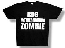 """ROB ZOMBIE - """"ROB MF ZOMBIE"""" SWEAR WORDS BLACK T-SHIRT - NEW ADULT 2XL XXL"""