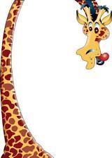 Sticker enfant Girafe Hauteur 175cm