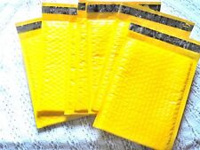 100 New Yellow 4x8 Bubble Mailers, Wholesale Padded Shipping Mailing Envelopes