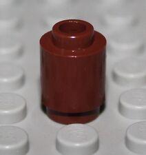 LeGo 10x Reddish Brown Brick, Round 1 x 1 Open Stud NEW