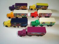 TRUCKS COLLECTION MODEL CARS SET 1:160 N - KINDER SURPRISE PLASTIC MINIATURES