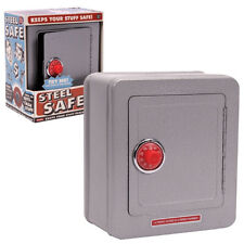 Steel Safe with Alarm Retro Kid's Toy Safe Bank 2 number combination lock NEW