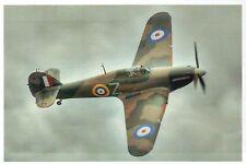 Hawker Hurricane Fighter Aircraft, Royal Air Force WW II Plane - Modern Postcard
