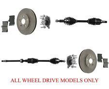 Front Axles Wheel Hub Bearins Rotors & Pads Fits 07-11 GS350 All Wheel Drive