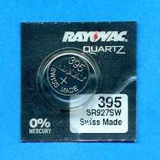 1 x 395 SR927SW SR57 V395 D395 1.55V Silver Oxide Watch Cell Battery Rayovac