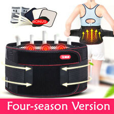 Magnetic Lumbar Lower Back Support Belt Brace Strap Pain Posture Waist Trimmer H