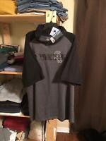 NWT Chicago White Sox Majestic Men's Gray Big and Tall S/Sleeve Hoodie Shirt 2XL