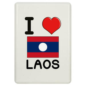 'I Love Laos' Fridge Magnet (FM00000384)