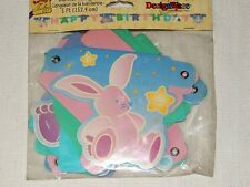 NEW ~~  BARNEY  BABY ~ HAPPY BIRTHDAY BANNER   5 FT. LONG ,   PARTY SUPPLIES~