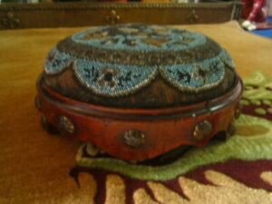 Lovely Antique Gothic revival victorian Arts & Crafts foot stall