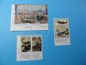 Stamps * MH Marshall Islands * MNH * Inscription Blocks * WWII * Lot 28