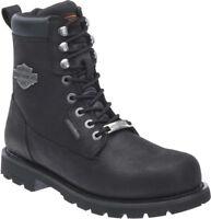 Harley-Davidson® Men's Prescott Waterproof Black Leather Motorcycle Boots D96135