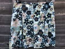 """NEXT size 16 Green Abstract Floral Skirt Length 22"""" W34"""""""