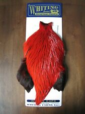 Fly Tying Whiting American Rooster Cape Badger dyed Red #A