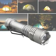 SkyWolfeye 8000 LM Q5 LED Flashlight Zoomble Torch Light Lamp AA 14500#BN
