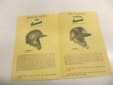 Original everoak scooter motor cycle crash casque brochure