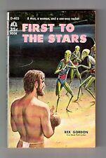 FIRST TO THE STARS (Rex Gordon/1st US/PBO/artist Ed Emshwiller)