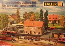 Faller Bausatz-Set Stolzberg Bahnhof Bahnsteig Fußgängerbrücke Lagerhalle H0 OVP