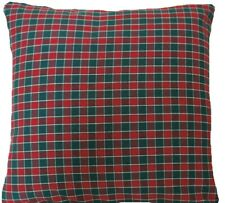 "Checks Cushion Cover Red Green Woven Fabric Small Checked Square 16"" 18"" 20"" 24"""