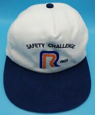 ROADWAY EXPRESS R69 white adjustable snapback cap / hat -Safety - USA made