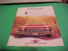 1975 CHEVROLET MONTE CARLO AUTO DEALER BROCHURE
