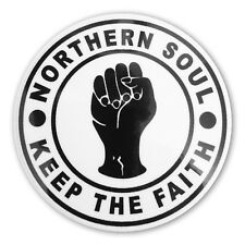 Northern Soul Sticker Keep The Faith 145mm Scooter Decal MS6