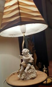 Beautiful, Vintage Rococo, Cherub Design Lamp. Base only.