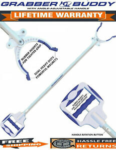 """Grabber Buddy Reacher Pick Up Tool 36"""" w/ 2 Heavy-Duty Magnets & Rotating Handle"""
